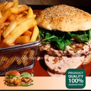 Pink Angus Burger